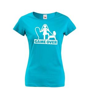 Dámnské tričko na rozlúčku Game Over 3