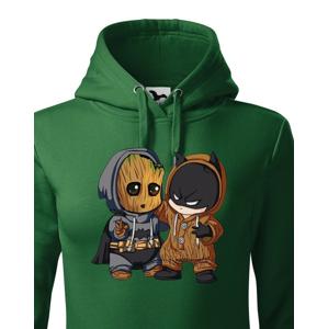 Dámská  mikina Batman a Groot - ideálna pre každého fanúšika