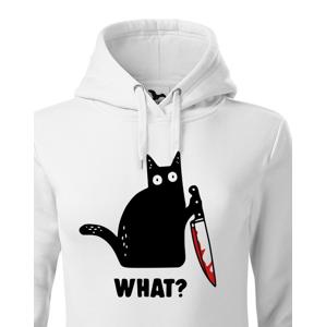 Dámska mikina s mačkou What - ideálne tričko pre milovníkov mačiek
