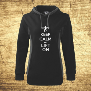 Dámska mikina s motívom Keep calm and lift on