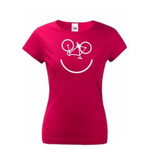 Dámské tričko Cyklo úsměv vám vždy zvedne náladu