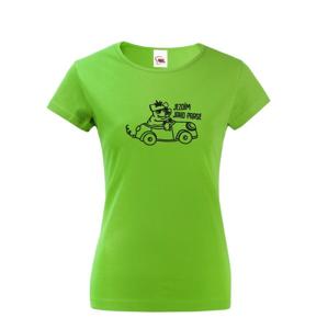 Dámske  tričko Jazdím ako prasa - ideálny darček pre každú vodičku
