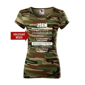 Dámské tričko k narozeninám - Som rozmaznaná manželka