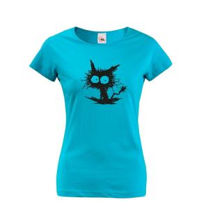 Dámske tričko mačko príšerka  - ideálny darček pre milovníkov mačiek