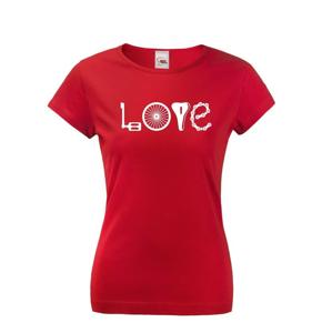 Dámske tričko pre cyklistky s potlačou LOVE