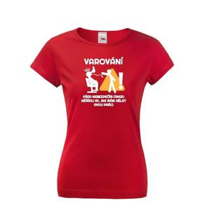 Dámske tričko pre kaderníčky Varovanie pred úrazom