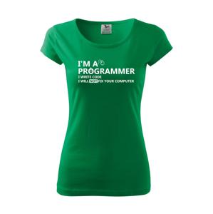 Dámske tričko pre programátorov Som programátor