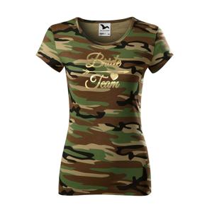 Dámske tričko pre tím nevesty Bride Team- ideálne rozlúčkové tričká