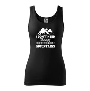 Dámske tričko pre turistky a cestovateľky s potlačou Hory