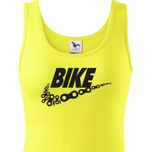 Dámské tričko pro cyklisty BIKE - vtipná parodie známé značky