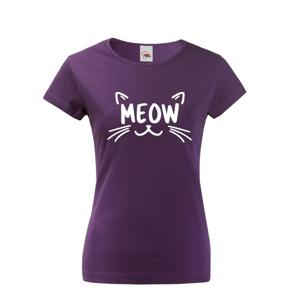 Dámske tričko s mačacou potlačou Meow - supiš tričko s mačkou