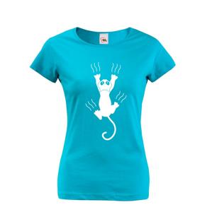 Dámske tričko s mačkou s pazúrikmi - ideálny darček pre milovníkov mačiek
