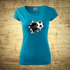 Dámske  tričko s motívom Futbal