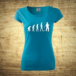 Dámske tričko s motívom Požiarnik evolúcia