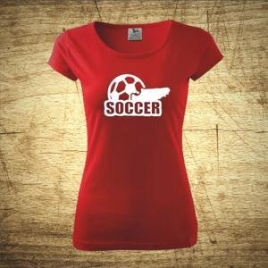 Dámske  tričko s motívom Soccer