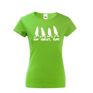 Dámské tričko s potiskem Run Forest, Run - parodie na film Forest Gump