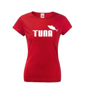 Dámské tričko s potiskem Tuna - parodie značky Puma