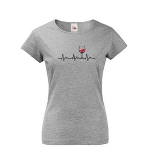 Dámske tričko s vtipným motívom vína - Ekg víno