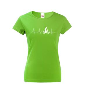 Dámske tričko Tep cyklistu, ukážte všetkým kam vás vaše srdce ťahá