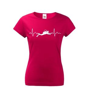 Dámské tričko Tep potápača - ideálny darček