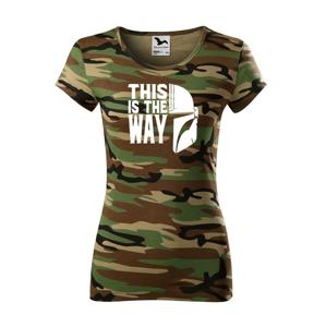 Dámske tričko zo seriálu Mandalorian - This is The Way