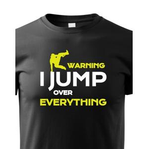 Deské tričko - Parkour jump