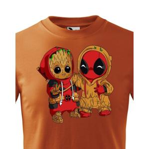 Detské tričko Deadpool a Groot - super darček
