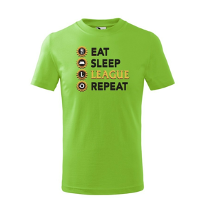 Detské tričko - Eat sleep league repeat - tričko pre fanúšikov hry