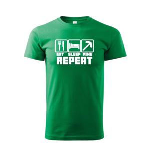 Detské tričko Eat Sleep Mine Repeat - tričko pre hráčov Minecraft
