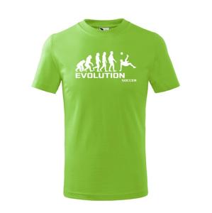 Detské tričko evoluce fotbalu - ideální dárek pro fotbalistu
