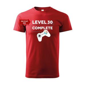 Detské tričko k narodeninám - Level complete  s vekom na prianie