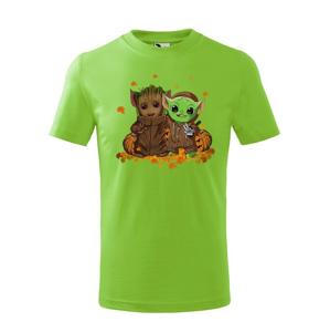 Detské tričko Majster Yoda a Groot - ideálne pre každého fanúšika
