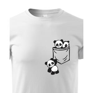 Detské tričko Pandy vo vrecku - štýlový originál