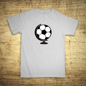Detské tričko s motívom Futbal glóbus