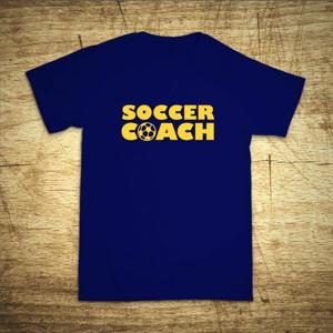Detské tričko s motívom Soccer coach