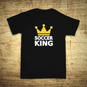 Detské tričko s motívom Soccer king
