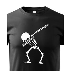 Detské tričko s potlačou kostry