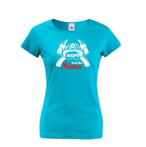 Hasičské tričko s potlačou Najlepšia hasičská mama