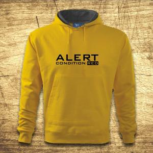 Mikina s kapucňou s motívom Alert – condition red