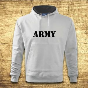 Mikina s kapucňou s motívom Army