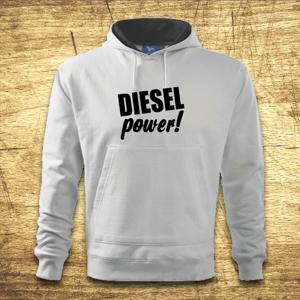 Mikina s kapucňou s motívom Diesel power!