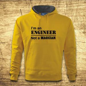 Mikina s kapucňou s motívom I am an engineer