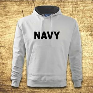 Mikina s kapucňou s motívom Navy