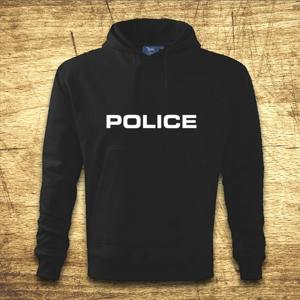 Mikina s kapucňou s motívom Police