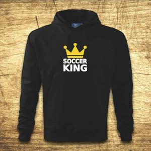 Mikina s kapucňou s motívom Soccer king