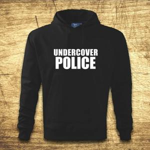Mikina s kapucňou s motívom Undercover police
