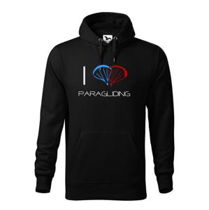 Mikina s motivem I love paragliding