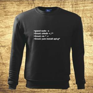 Mikina s motívom Code