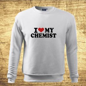 Mikina s motívom I love my chemist