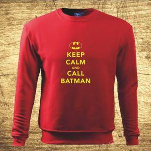 Mikina s motívom Keep calm and call Batman.